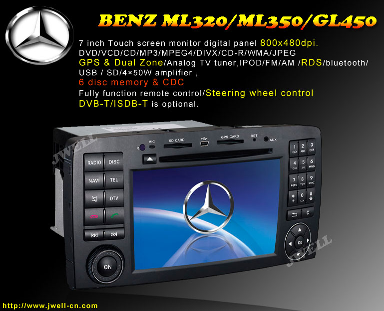 Special car dvd player for BENZ R300,R350