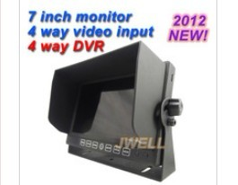 High Quality 7 inch DVR with 4 channels Rearview monitor