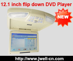 12.1 inch flip down Slot-in TFT-LCD Multi-media DVD player