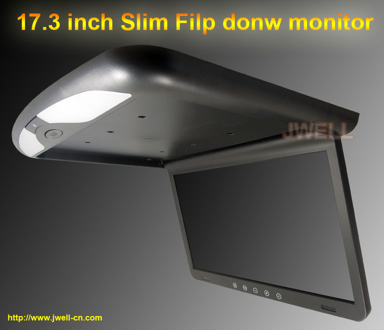 17.3 inch Car Roof Mount Monitor with IR FM Slim 1920 x 1080