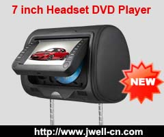 7 inch Headrest DVD player with 32 bit games