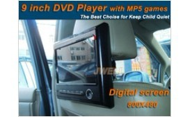 9 inch car lcd montor DVD Player with mp5 games easy install