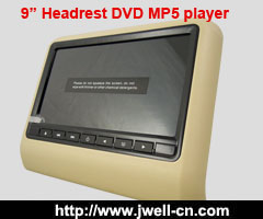 9 inch HD LED Headrest Monitor with slot in DVD Player