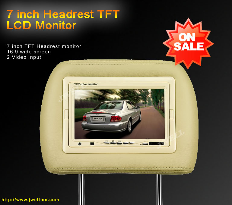 7 inch Headrest TFT LCD Monitor