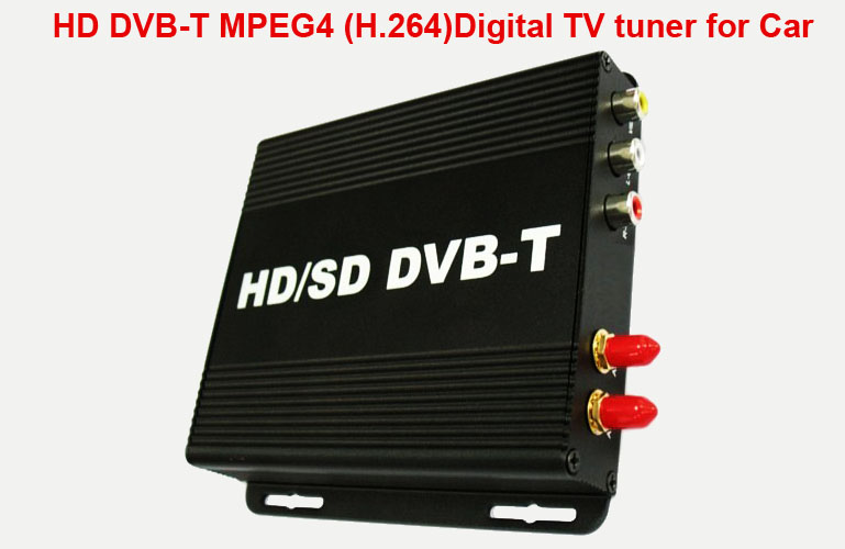 HD DVB-T MPEG4 (H.264)Digital TV tuner for Car