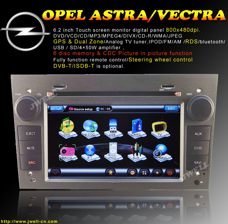 Special Car DVD with GPS for OPEL ASTRA / VECTRA