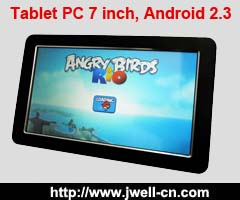 Tablet PC 7 inch, Android 2.3 OS, WIFI, touch screen,HDMI, GPS, DVB-T MPEG4 digital TV, DDR256M, 4G.