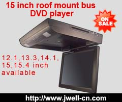 15 inch Flip down Slot-in DVD player with touch botton