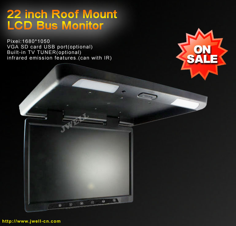 22 inch Roof mount car monitor with SD,USB,tv