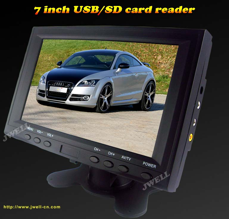 7 inch 16:9 TFT LCD TV