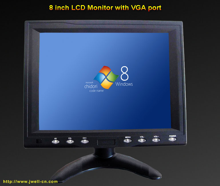8 inch portable Touch Screen High resolution LCD Monitor with VGA port