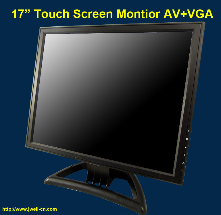 17 inch LCD Monitor with AV/BNC/PC/TV/Audio/Touch